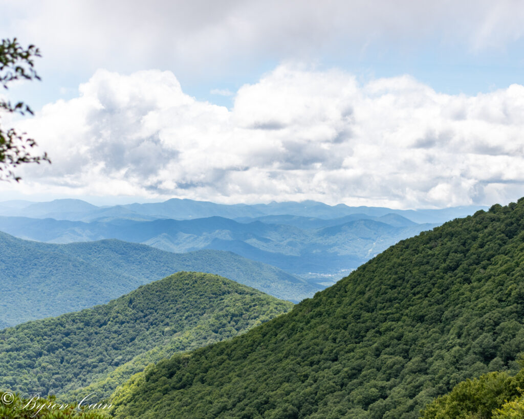 Vistas of the Blue Head Mountain Range.  A favorite view for our Bed and Breakfast guests travelling to North Carolina.